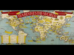 MacDonald Gill (1884-1947), British / 'Tea Revives the World' pictographic map publicity poster for the International Tea Market Expansion Board Limited, 1940 / British Library, London, UK