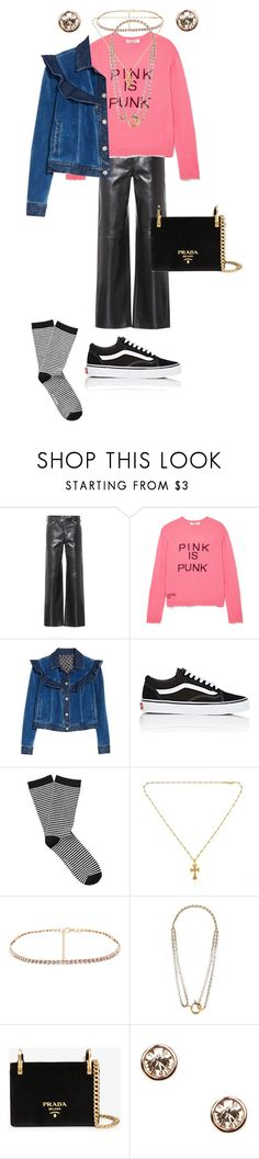 """""""Senza titolo #2857"""" by monsteryay ❤ liked on Polyvore featuring Calvin Klein 205W39NYC, Valentino, Rebecca Taylor, Vans, Witchery, Chrome Hearts, Balenciaga, Prada and Givenchy"""