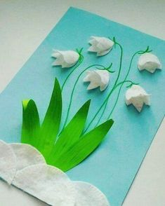 Creative Arts And Crafts, Diy And Crafts, Kids Crafts, Winter Crafts For Kids, Spring Crafts, Paper Flowers Craft, Spring Activities, Spring Art, Flower Cards
