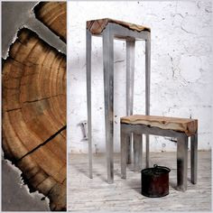 STUNNING FURNITURE OF WOOD AND CAST ALUMINUM