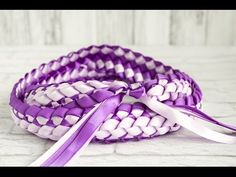 The Joy of Crafting 160/3 - Deluxe Double Braided Ribbon Lei - YouTube