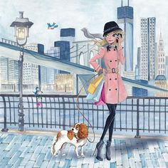 Girl In New York by Caroline Bonne-Muller