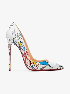 CHRISTIAN LOUBOUTIN SO KATE 120 GRAFFITI PUMPS. #christianlouboutin #shoes #