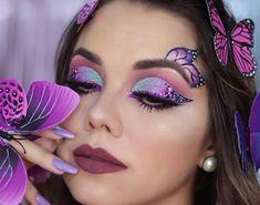 Schmetterling Make-up, Fee Make-up, Karneval Make-up, Künstlerische Make-up, … - Schmetterling Fairy Make-up, Eye Makeup Designs, Eye Makeup Art, Fairy Eye Makeup, Fairy Fantasy Makeup, Make Up Artist Ausbildung, Make Up Designs, Eyeliner, Eyeshadow