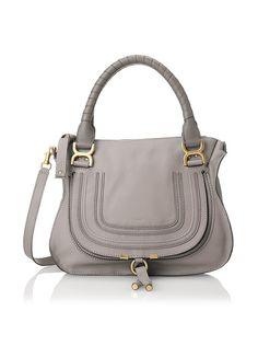 Chloé Women's Medium Marcie in Calfskin, Cashmere Grey, One Size Grace Kelly, Chloe, Side Bags, Cashmere, Purses, Womens Fashion, Leather Bags, Medium, Beauty