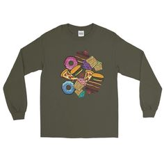 Comfort Food Long Sleeve T-Shirt For Gourmets And Gourmands (Unisex)