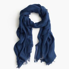 "Made from silk-cashmere with a beautiful drape, this wrap is a J.Crew classic for a reason. <ul><li>71""L x 31""W.</li><li>Silk/cashmere.</li><li>Hand wash.</li><li>Import.</li><li>Online only.</li></ul>"