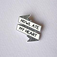 Howl Ate My Heart Studio Ghibli Brooch Pin by StrangeInc1 on Etsy