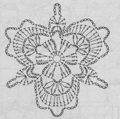 Crochet Triangle, Granny Square Crochet Pattern, Crochet Diagram, Crochet Squares, Crochet Chart, Freeform Crochet, Thread Crochet, Crochet Motif, Crochet Flowers