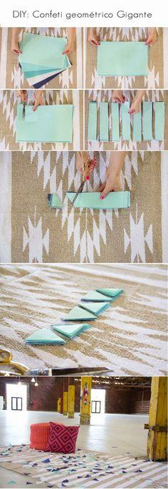 DIY confeti triangulos para boda