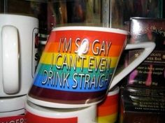 Good one! So for me (since i'm Straight) it would say -'I'm so sad, l can drink straight . Hehe =µ)