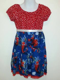 Spiderman Superhero Girls Peasant-Style Dress by DesignsByGranGran