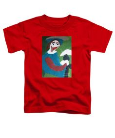 Patrick Francis Red Designer Toddler T-Shirt featuring the painting Man With A Feathered Hat 2014 by Patrick Francis