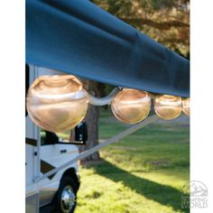Clear Prismatic Globe Lights with White Cord - 6 Globes