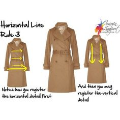 How to choose clothes based on the illusion that horizontal lines have (We see the horizontal lines first as we are always looking for the horizon as that gives us balance.)