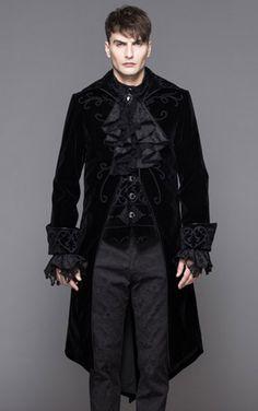 devil fashion mens gothic red storm velvet jacket velvet
