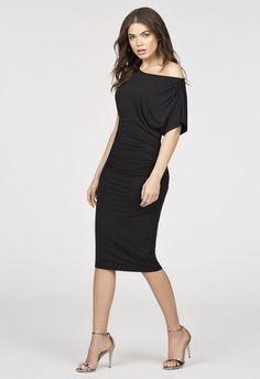 Off The Shoulder Knit Dress in Black - Get great deals at JustFab