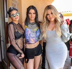 Kendall and Kylie Jenner with Khloe Kardashian