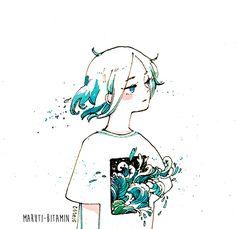 "maruti-bitamin: "" Window watercolour + ink twitter | instagram | store """