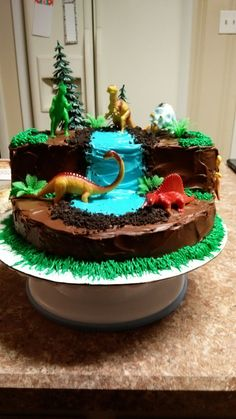 Excellent Image of Dinosaur Birthday Cake Dinosaur Birthday Cake Dinosaur Cake Cake Therapy Kare Dinosaur Birthday Cakes, Cool Birthday Cakes, Dinosaur Party, 2nd Birthday Parties, Birthday Fun, Dinosaur Cakes For Boys, Birthday Ideas, Birthday Recipes, Cakes For Kids