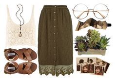 """""""Hippy"""" by rose-olh ❤ liked on Polyvore featuring H&M, Julie Wolfe, River Island, Aesop, New Growth Designs and Steve Madden"""