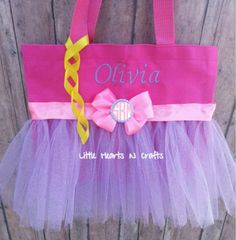 Rapunzel Purse Tangled Tutu Princess Tutu by LittleHeartsNCrafts