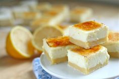 Lemon Cheesecake Creme Brulee Bars. Made me think of you, @jeannabrown