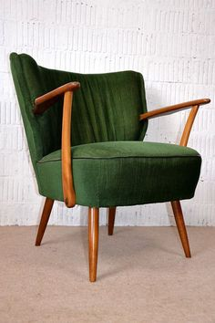 Details about retro 50s cocktail chair armchair fabric vintage 60s bedroom - Fauteuil vintage occasion ...
