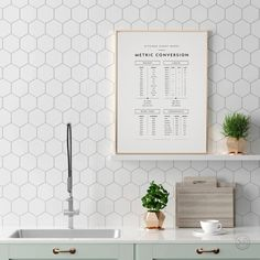 Metric Conversion Kitchen Cheat Sheet Kitchen Wall Decor | Etsy