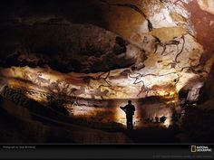 #Lauscaux Cave Art (Broad View)  --  France  --  12,000 BCE  --  Photo courtesy of National Geographic.
