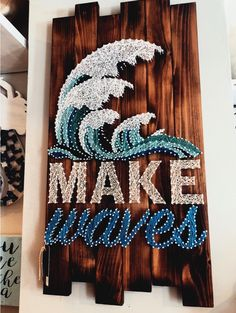 Decorate Your Home With Home Decor And Craft! - Decorate Your Home With Home Decor And Craft! Decorate Your Home With Little Touches And Crafts! String Art Diy, String Art Quotes, String Art Heart, String Art Tutorials, Diy Room Decor, Wall Decor, Beachy Room Decor, Surf Decor, Room Decorations