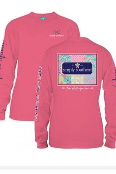 988dd99934d803 Pink long sleeve tee that says live what you love Simply Southern T Shirts