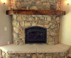 pellet stove corner fireplace designs - Google Search