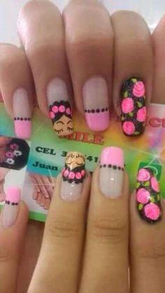 Classy Nails, Stylish Nails, Hot Nails, Hair And Nails, Nail Polish Designs, Nail Art Designs, Nail Art Printer, Natural Nail Art, Colorful Nail Designs