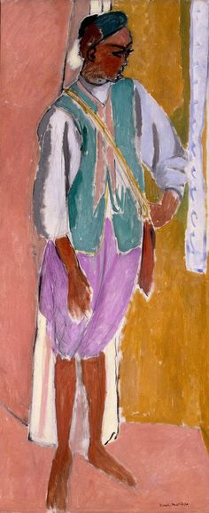 The Marrocan Amido, 1912 - Henri Matisse - Oil on canvas, 146.5x61.3 cm Origin: France, 1912