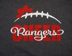 Custom Cheer Team Glitter Shirt Long Sleeves by GlitterMomz