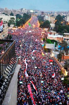 the largest protest in mankinds history!! Long Live Egypt! 30-6-2013