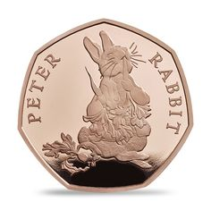The 2018 Peter Rabbit gold Proof coin shows every detail, from his little coat to his long whiskers, captured on the coin's small surface.Buy the ideal gift for Beatrix Potter fans Peter Rabbit, Rare British Coins, Coin Books, Childhood Characters, Buy Coins, Proof Coins, Silver Gifts, Beatrix Potter, Coin Collecting