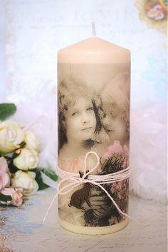 Jarná Maxi vintage sviečka