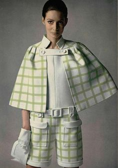 1960s Shorts and Cape set Repinned by www.fashion.net