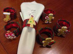 Anéis de guardanapo feitos com embalagem de mentos
