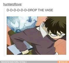 D-D-D-D-D-D-Drop the vase, funny, text, Fujioka Haruhi; Ouran High School Host Club
