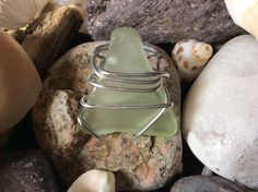 Green Sea Glass Ring. Sea Glass wire wrapped by LuxeDesignsbyLucy, $14.99
