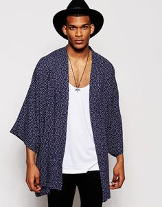 Shop ASOS Paisley Kimono at ASOS. Order now with multiple payment and delivery options, including free and unlimited next day delivery (Ts&Cs apply). Male Kimono, Kimono Top, Asos Kimono, Kimono Fashion, New Wardrobe, Kanye West, Put On, Mens Fashion, Fashion Menswear