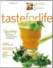 Taste for Life is a monthly freebie magazine given out at health food stores.