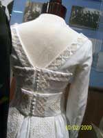 Norwegian Hardanger lace wedding dress