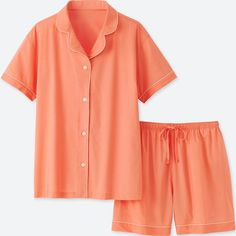 Check out our women's loungewear including pajamas, lounge sets, tops & bottoms, and slippers for women. UNIQLO US. Orange Outfits, Orange Clothes, Cotton Pyjamas, Pajamas, Pijamas Women, Stretch Shorts, Pajama Shorts, Lounge Wear, Pyjamas