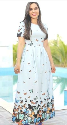 Simple Summer to Spring Outfits to Try in 2019 Lovely Dresses, Modest Dresses, Modest Outfits, Cheap Dresses, Dress Outfits, Casual Dresses, Summer Dresses, Modest Clothing, Frock Fashion