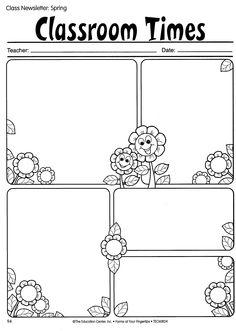 Newsletter Template - free   Creative Classroom   Pinterest ...