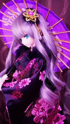 You are soo kawaii! Ooak Dolls, Blythe Dolls, Girl Dolls, Beautiful Barbie Dolls, Pretty Dolls, Kawaii Doll, Kawaii Anime, Cute Baby Dolls, Anime Figurines